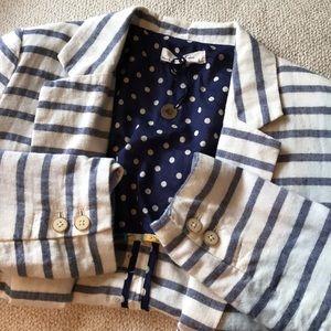 Anthropologie striped blazer